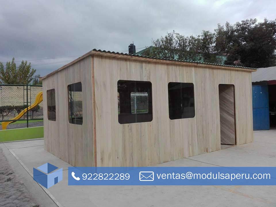 Oficinas Modulares De Madera Prefabricada Modulsa Peru